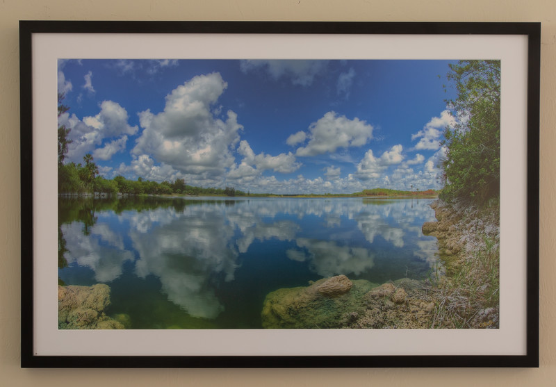 Glades morning lake cloud reflection