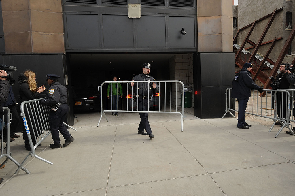 . NEW YORK, NY - MARCH 17:  A gerneral overview at The scene outside the Chelsea apartment building on March 17, 2014 in New York City, where fashion designer L\'Wren Scott, 47, was found dead from an apparent suicide.  (Photo by Brad Barket/Getty Images)