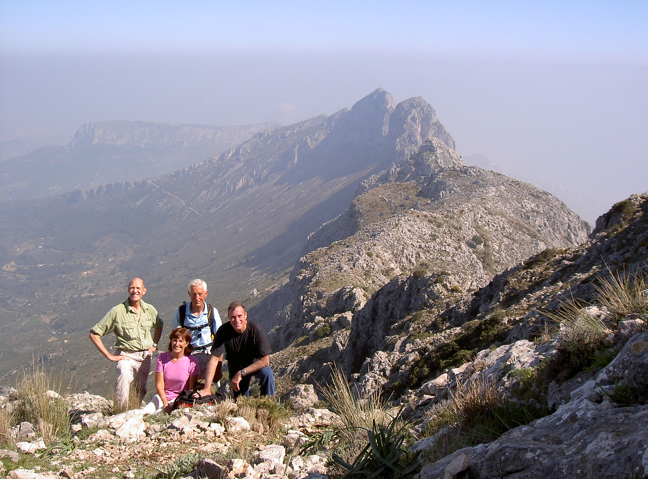 With Sally and two Johns on the Bernia West ridge hike