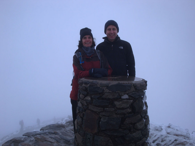 Mt Snowdon, or Yr Wyddfa - at 1,085 m, the highest point in England and Wales.