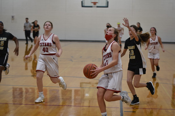 7th grades girls basketball vs. Elkhorn Valley View