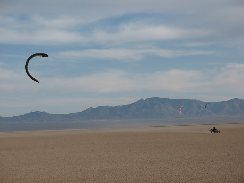 Kite Buggy Bliss on Ivanpah...