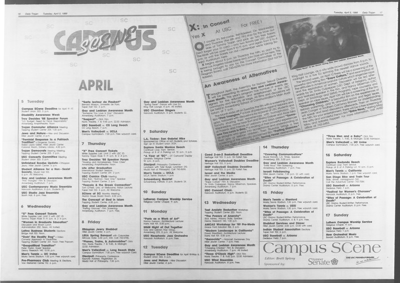 Daily Trojan, Vol. 106, No. 53, April 05, 1988