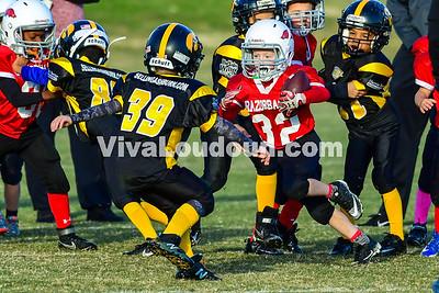 Youth Football: AYFL D-Hawkeyes vs. D-Razorbacks 10.28.2017 (by Al Shipman)