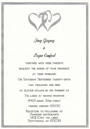 Bryan & Teacy Wedding - Sept 26th, 2009
