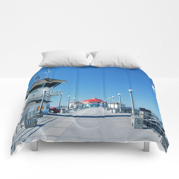 a-winters-day-huntington-beach-pier5963-comforters.jpg