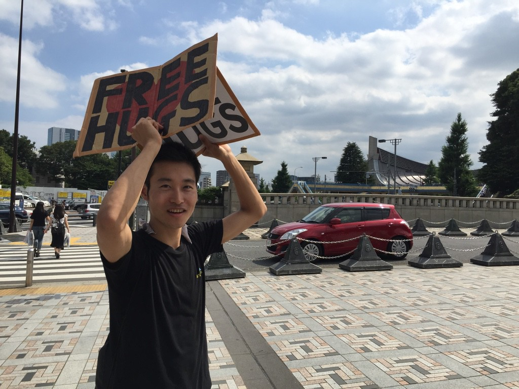 Free hugs from Daichi