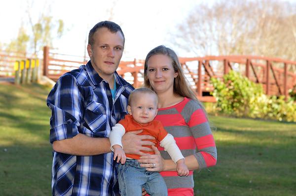 Jaxtin (1 year) & family