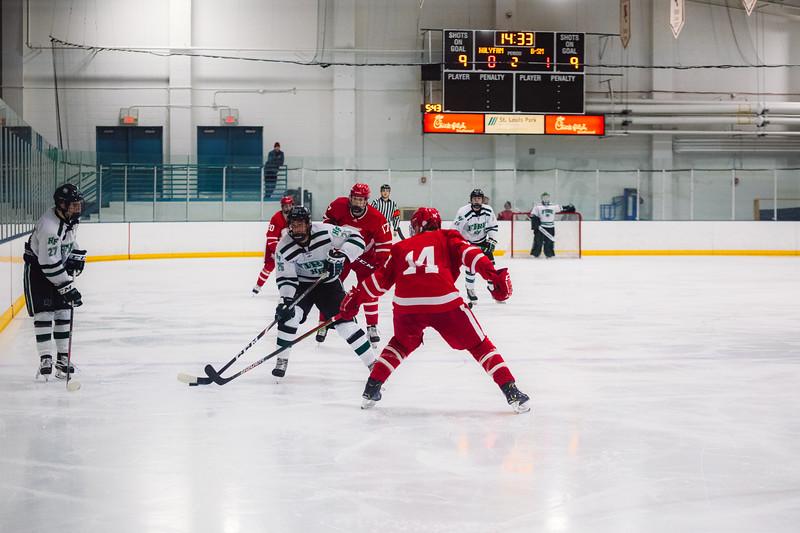 Holy Family Boys Varsity Hockey vs. Benilde-St. Margaret's, 12/26/19: Bishop Schugel '21 (25)