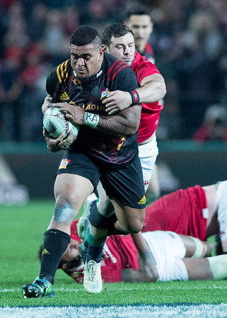 Nepo Laulala during game 6 of the British and Irish Lions 2017 Tour of New Zealand,The match between  The Chiefs and British and Irish Lions, FMG Stadium, Hamilton, Tuesday 20th June 2017 (Photo by Kevin Booth Steve Haag Sports)  Images for social media must have consent from Steve Haag