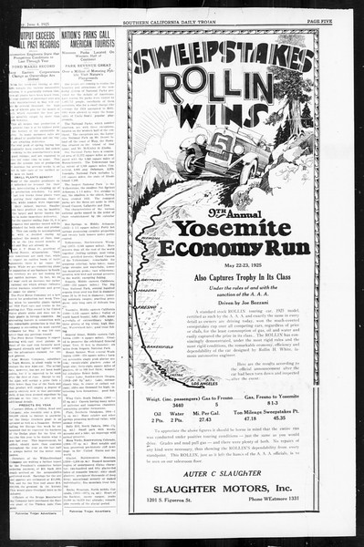 Daily Trojan, Vol. 16, No. 120, June 04, 1925