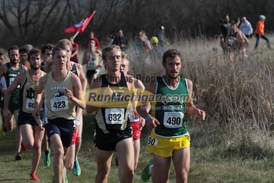 Men at 5K mark - 2013 NCAA Division I Great Lakes Region Cross Country Championships