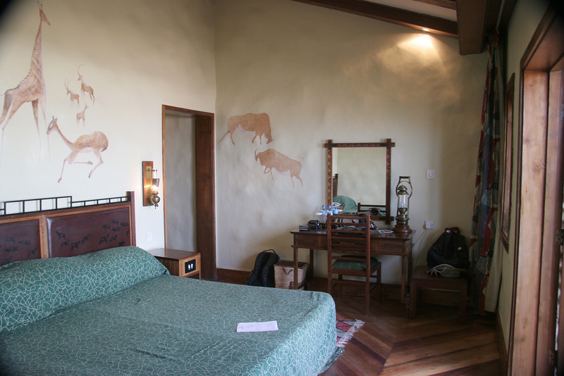 Our room at the Ngorongoro Serena Lodge