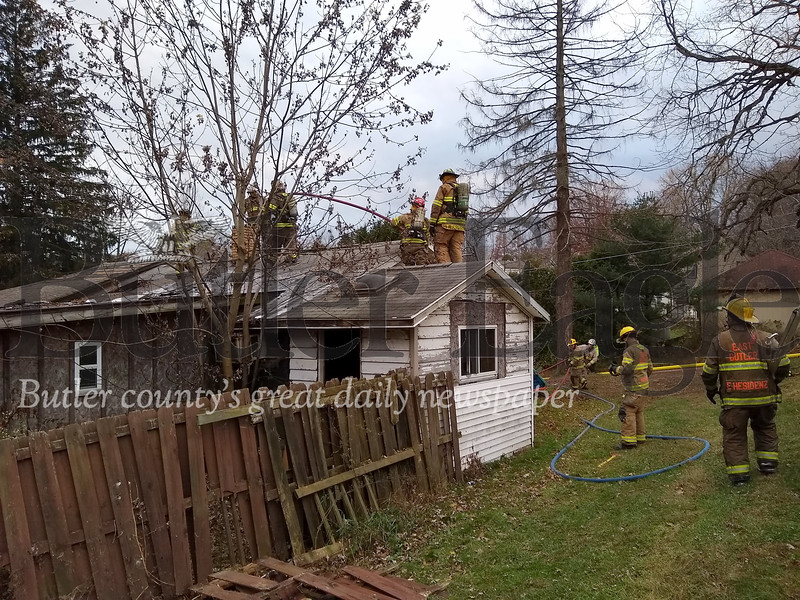 House fire Saturday 11/02/19 262 Chicora Rd.  Donna Sybert/Butler Eagle