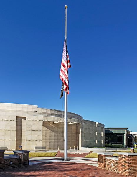 Atlanta War Memorial and Historical Society...flag at half mast because of Pittsburg shooting