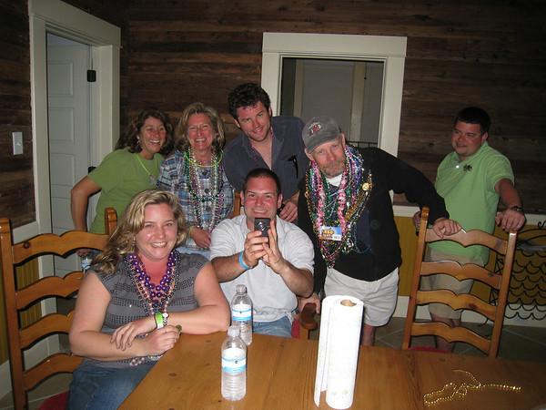 Kelly, Jen, Sue, Mark, Jon, Chris, Matt L checking out video from the weekend.
