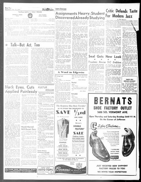 Daily Trojan, Vol. 40, No. 76, February 10, 1949