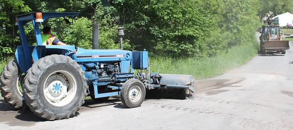 Rush Township workers clearing roads following dirt runoff, Hometown (5-24-2011)