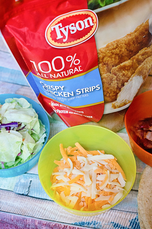 #ad These Crispy Chicken Wraps are the PERFECT back to school recipe for families. You can eat them for dinner, or have them cold and add them to lunchboxes