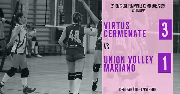 CO-2Df: 23^ Virtus Cermenate - Union Volley Mariano