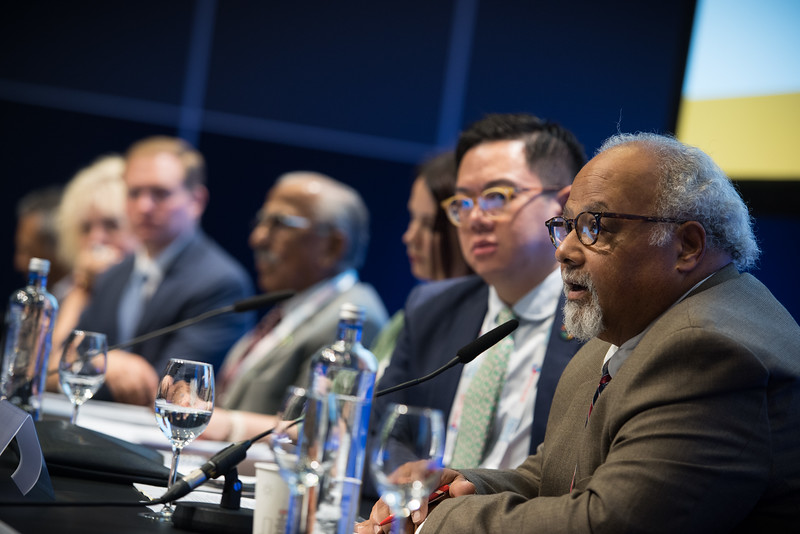 22nd International AIDS Conference (AIDS 2018) Amsterdam, Netherlands   Copyright: Marcus Rose/IAS  Photo shows: TB 2018: Bridging the TB and HIV Communities. Discussion: Towards the UN High-Level Meeting on TB Eric Goosby, United Nations Special Envoy on Tuberculosis, United States.