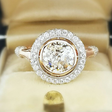 "The ""Camellia"" Halo Setting - Featuring a 1.39ct Crown Jubilee Diamond"