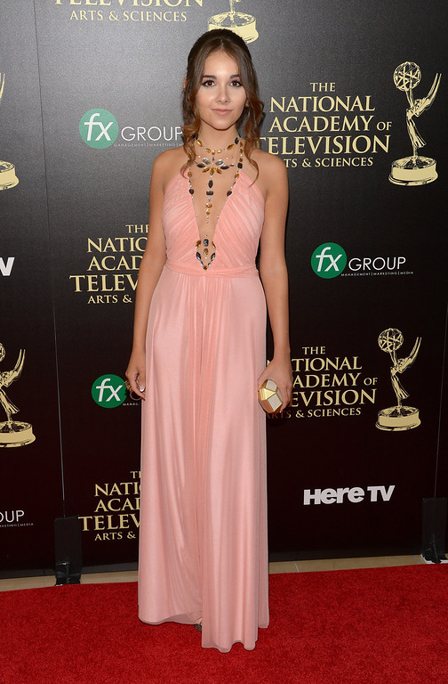 . Actress Haley Pullos attends The 41st Annual Daytime Emmy Awards at The Beverly Hilton Hotel on June 22, 2014 in Beverly Hills, California.  (Photo by Jason Kempin/Getty Images)