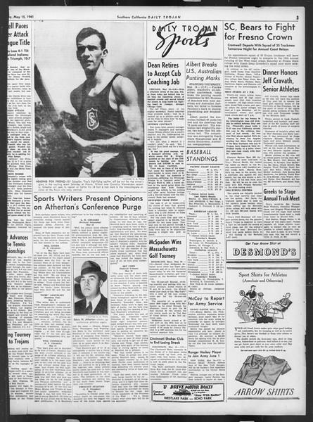 Daily Trojan, Vol. 32, No. 142, May 15, 1941