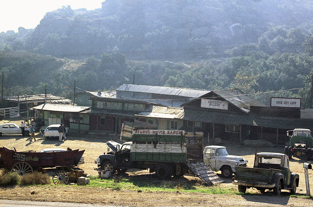 ". The Spahn movie ranch near Chatsworth, a Los Angeles suburb, on Dec. 11, 1969, where Charles Manson and his ""family\"" of hippies lived at the time actress Sharon Tate and seven others were slain. (AP Photo)"