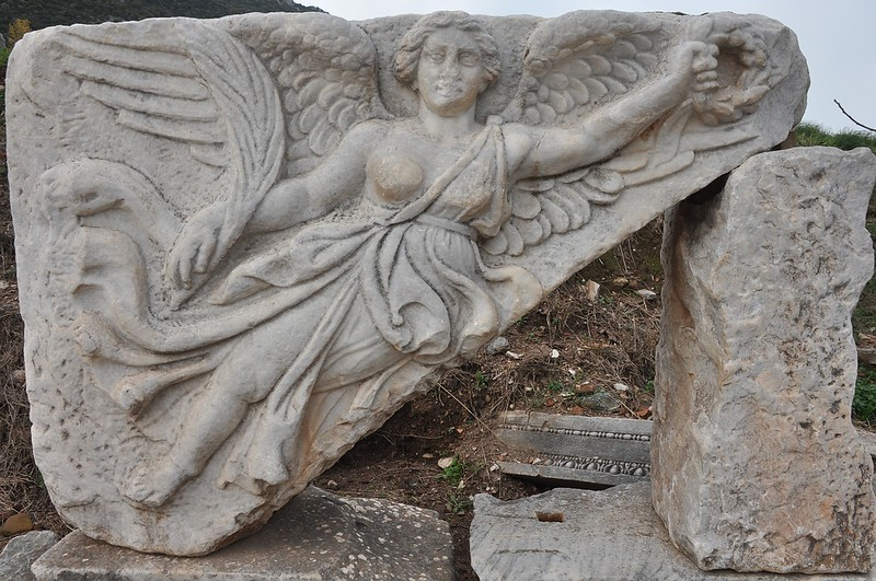 Nike Goddess at Ephesus Turkey