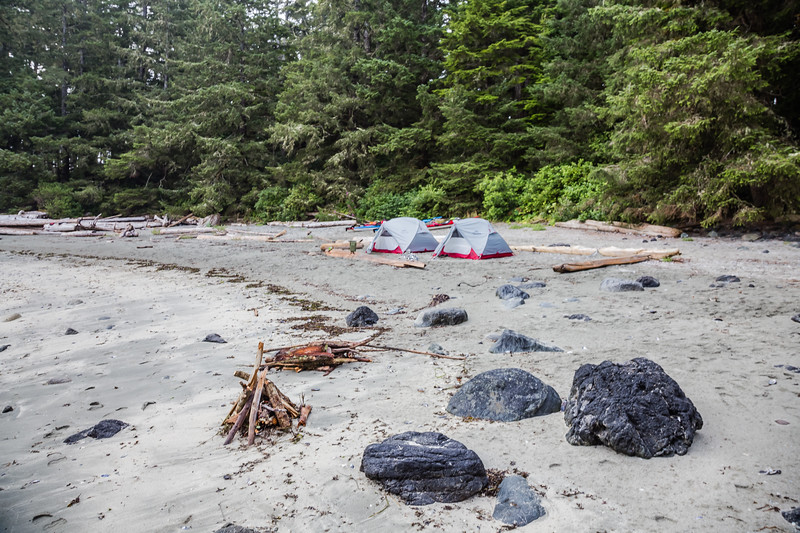 beach camping on Vancouver Island, Canada
