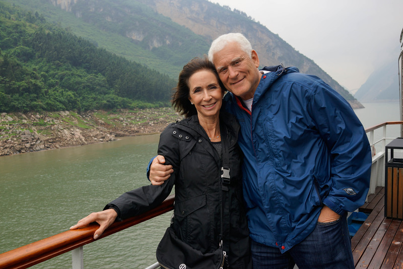 Elaine and Bruce Hochstadter on Yangtze River
