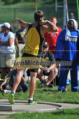 D2 Boys Shot Put - 2013 MHSAA LP Track and Field Finals