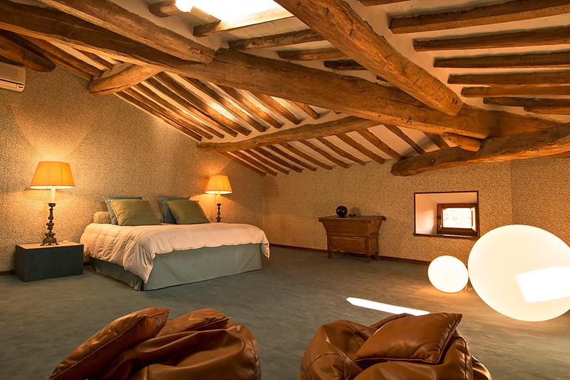 Bedroom Celeste, Mansarda (top floor)