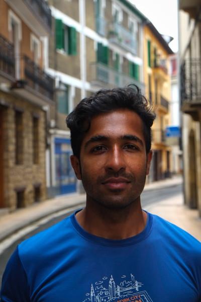 Walking through Leikeitio - great town - where Bilbao residents go on weekends