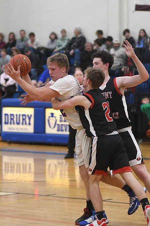 Mount Greylock vs Drury Boys Basketball - 010620