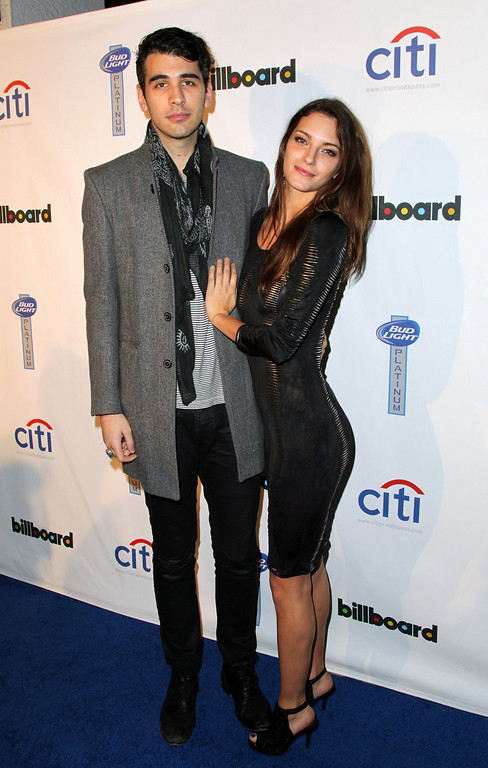 . Nick Simmons (L) and Jessica Marie attend the 2nd Annual Billboard Grammys After-Party at The London Hotel on January 26, 2014 in West Hollywood, California.  (Photo by David Buchan/Getty Images)