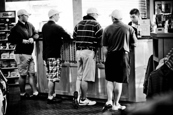 Groomsmen Playing Golf and Getting Ready