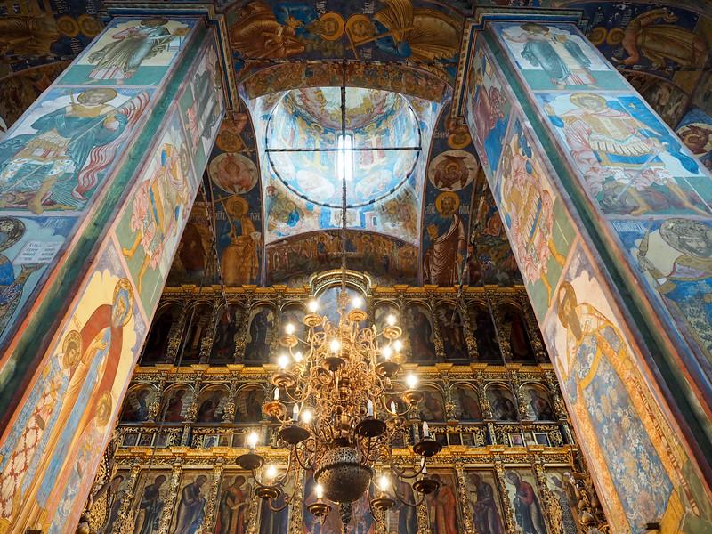 Inside the Church of Elijah the Prophet in Yaroslavl