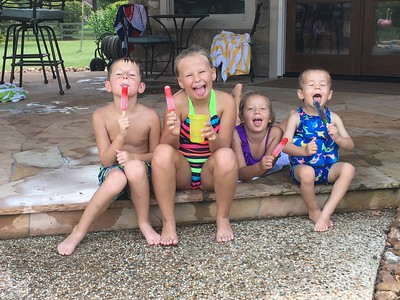 Grandkids at the Pool 06-1912016