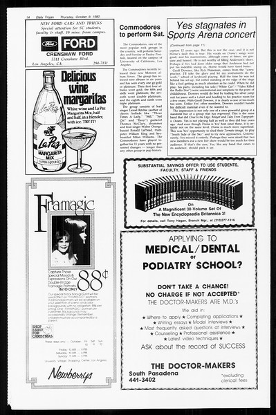 Daily Trojan, Vol. 89, No. 18, October 09, 1980