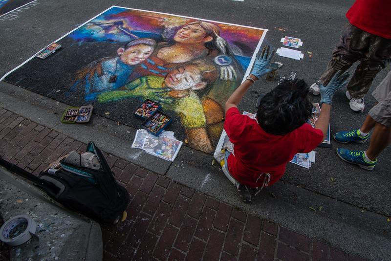victoria international chalk art festival 2015