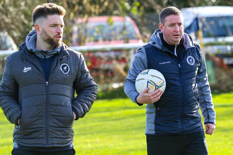 Lostock Gralam's management team Dom Johnson (right) and Dean Jones (left)