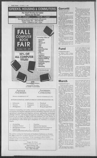 Daily Trojan, Vol. 126, No. 32, October 17, 1995