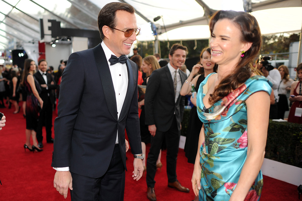 . Will Arnett and Juliette Lewis on the red carpet at the 20th Annual Screen Actors Guild Awards  at the Shrine Auditorium in Los Angeles, California on Saturday January 18, 2014 (Photo by Hans Gutknecht / Los Angeles Daily News)