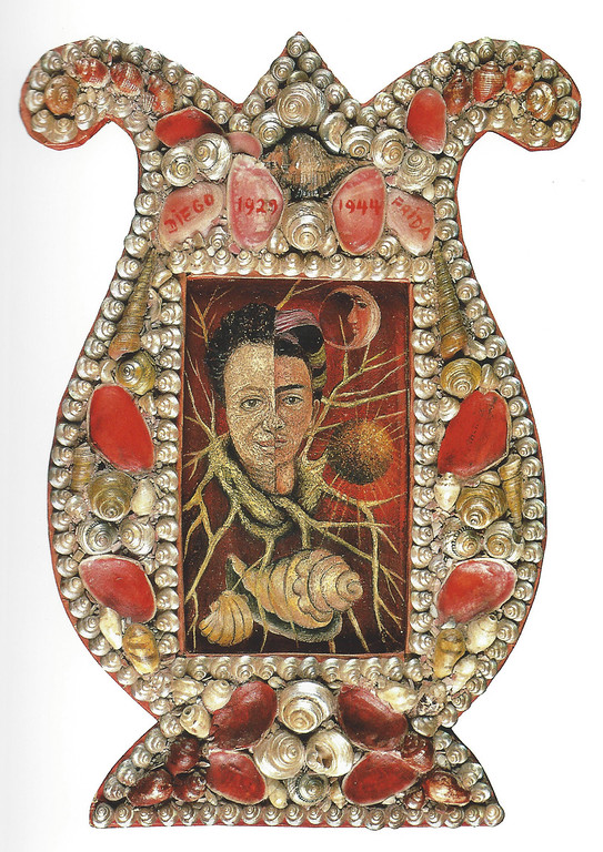 . Double Portrait of Diego and I, Frida Kahlo, 1944, oil on Masonite with shell frame, Private Collection, Courtesy of Galeria Arvil, Mexico