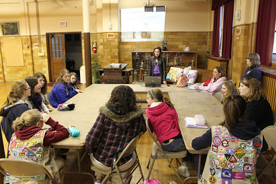 Tamaqua Girl Scouts Learn  Engineering, Zion Evangelical Lutheran Church (3-22-2011)