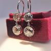 3.07ctw Double Old European Cut Dangle Earrings 6