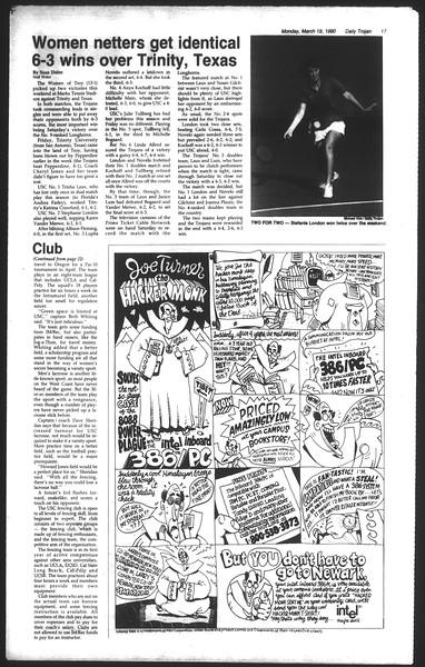 Daily Trojan, Vol. 111, No. 45, March 19, 1990