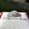 1.18ctw Art Deco Princess Halo Ring 24